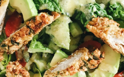 Recipe: Grilled chicken salad with parmesan dressing