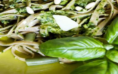 Recipe: Zucchini Noodles with Pesto and Chicken